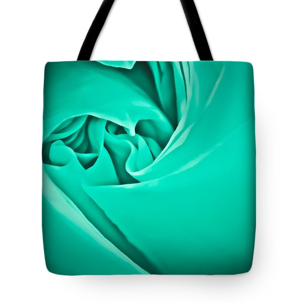 Tote Bag featuring the photograph Teal Rose-duvet Cover by  Onyonet  Photo Studios