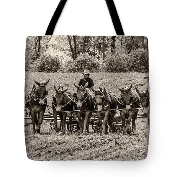 Team Of Eight Tote Bag by Guy Whiteley