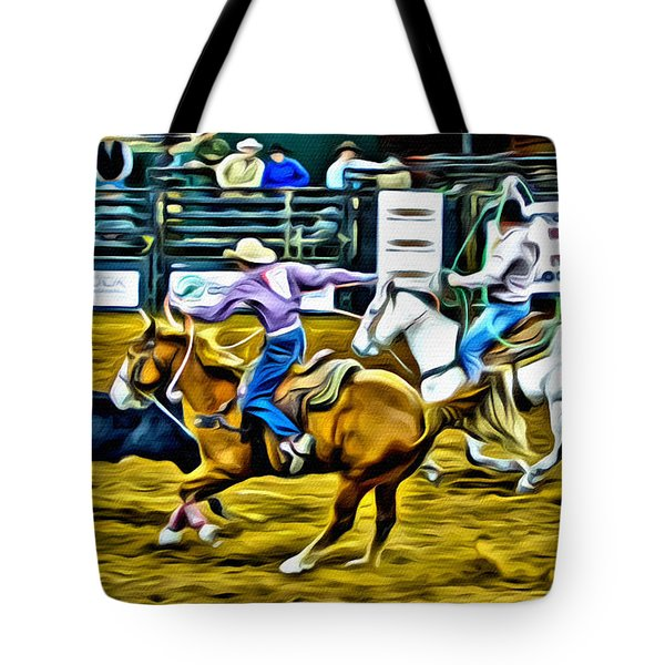 Team Ropers Tote Bag by Alice Gipson