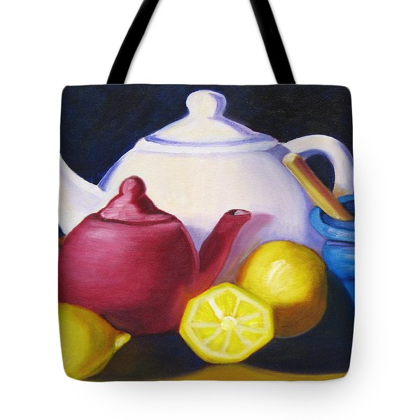 Teapots In Primary Colors Tote Bag