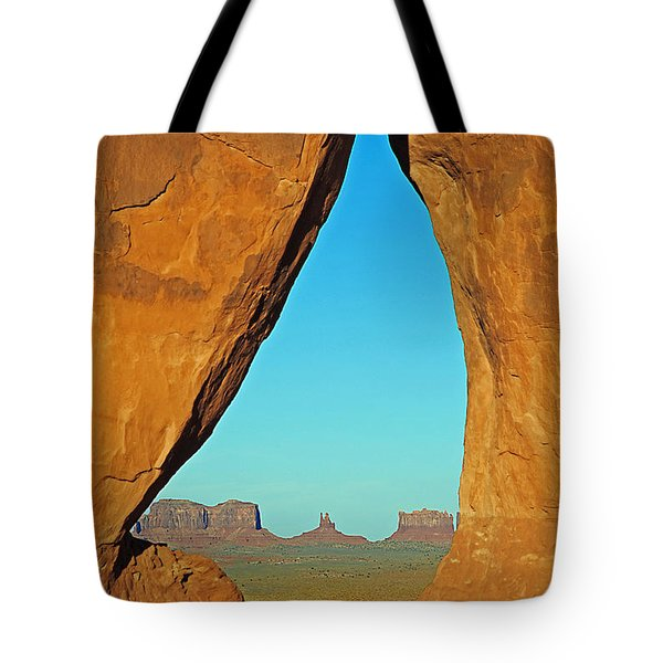 Tear Drop Arch Monument Valley Tote Bag by Jeff Brunton