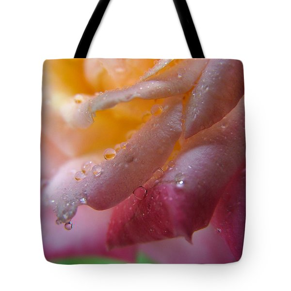 Teardrop Of A Rose Tote Bag by Kathy Churchman