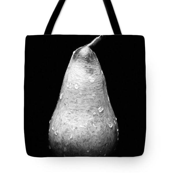 Tears Of A Sad Pear In Silver Tote Bag by Andee Design