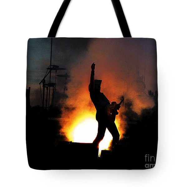 Ted Nugent On Fire Tote Bag