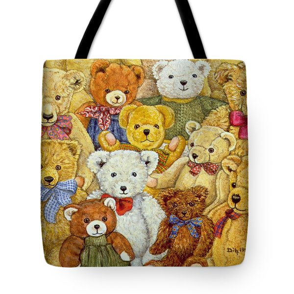 Ted Patch Tote Bag by Ditz