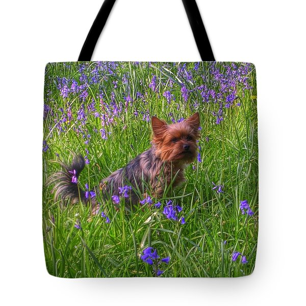Teddy Amongst The Bluebells Tote Bag
