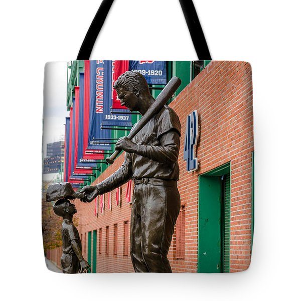 Tote Bag featuring the photograph Teddy Ballgame by Mike Ste Marie