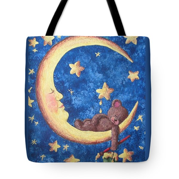 Teddy Bear Dreams Tote Bag by Megan Walsh