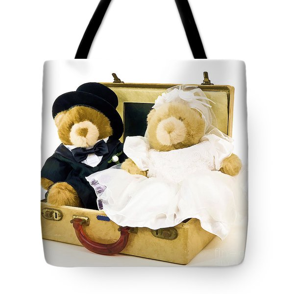 Teddy Bear Honeymoon Tote Bag by Edward Fielding