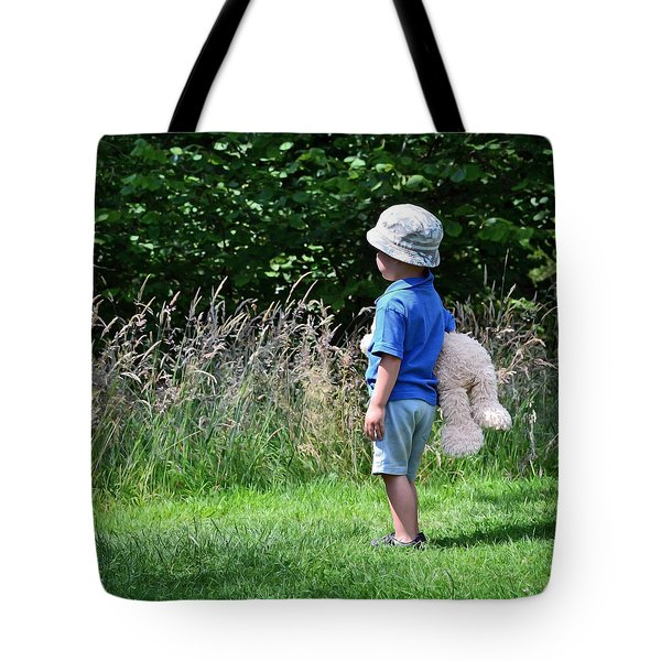 Teddy Bear Walk Tote Bag by Keith Armstrong