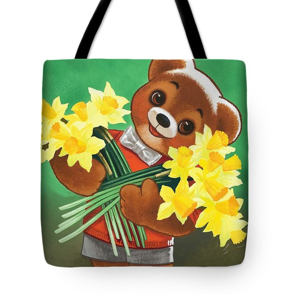 Teddy Bear Tote Bag by William Francis Phillipps