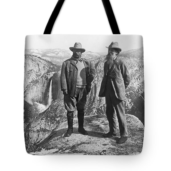 Teddy Roosevelt And John Muir Tote Bag