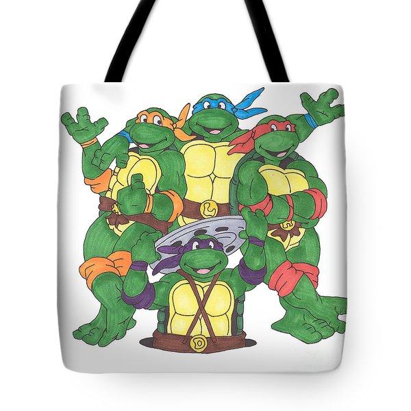 Teenage Mutant Ninja Turtles  Tote Bag by Yael Rosen