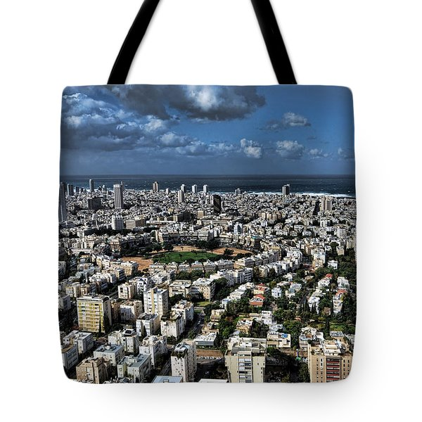 Tote Bag featuring the photograph Tel Aviv Center by Ron Shoshani