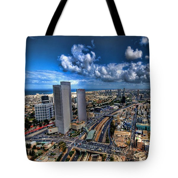 Tel Aviv Center Skyline Tote Bag