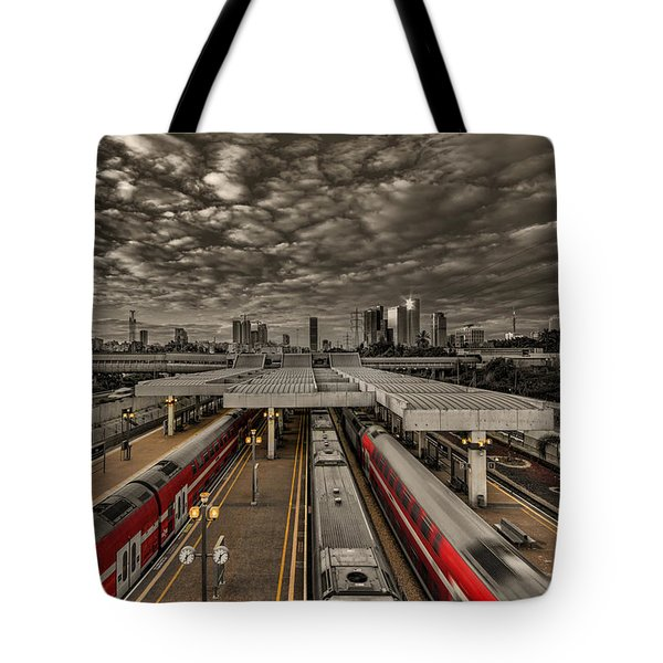 Tel Aviv Central Railway Station Tote Bag