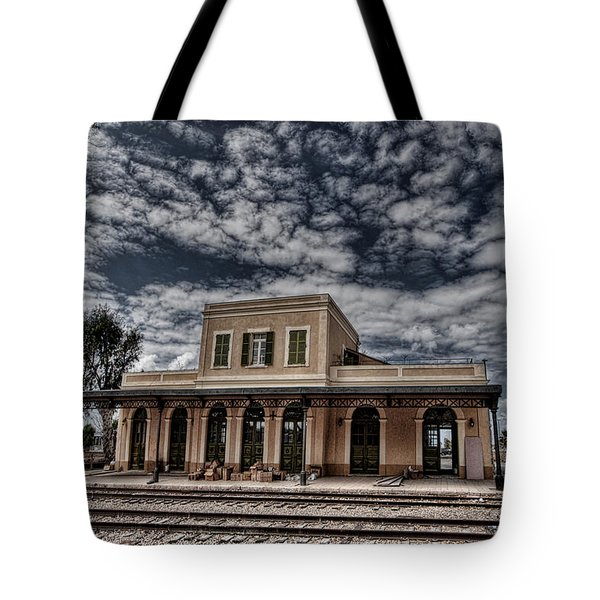 Tote Bag featuring the photograph Tel Aviv First Railway Station by Ron Shoshani