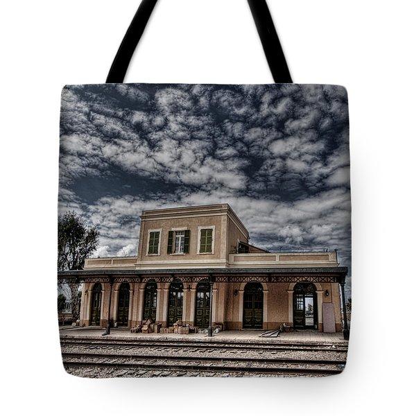 Tel Aviv First Railway Station Tote Bag by Ron Shoshani