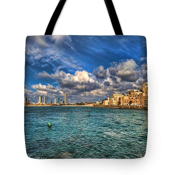 Tel Aviv Jaffa Shoreline Tote Bag