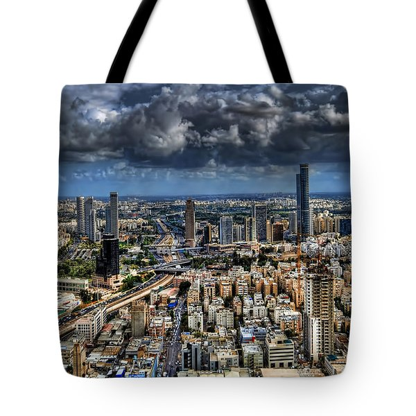 Tel Aviv Love Tote Bag by Ron Shoshani