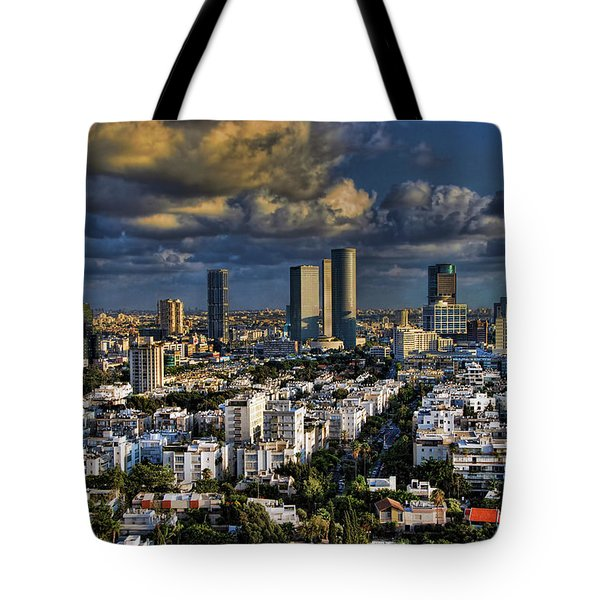 Tel Aviv Skyline Fascination Tote Bag