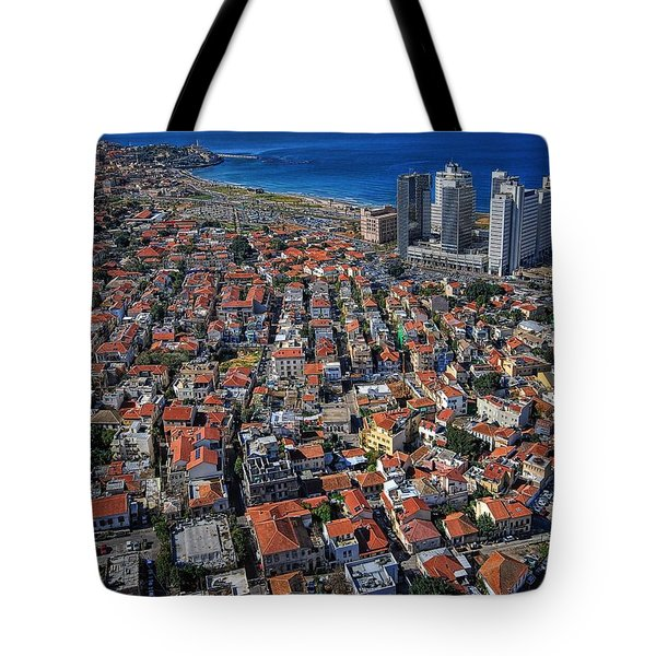 Tel Aviv - The First Neighboorhoods Tote Bag