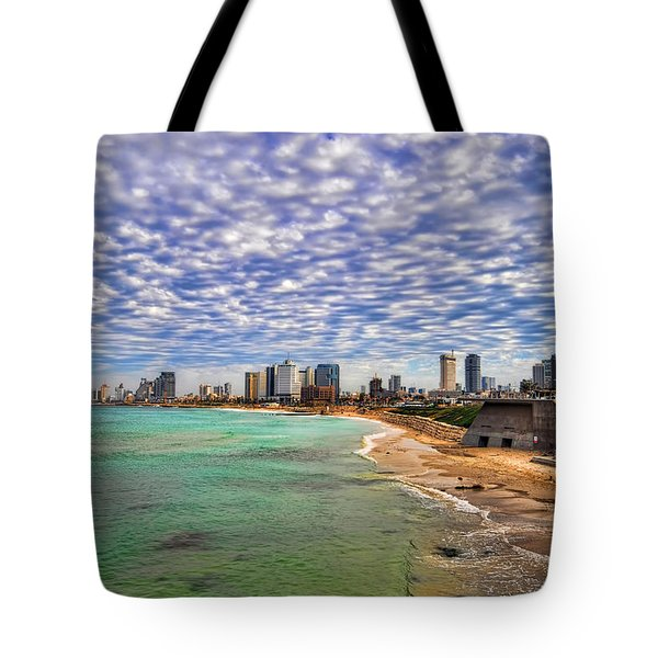 Tel Aviv Turquoise Sea At Springtime Tote Bag