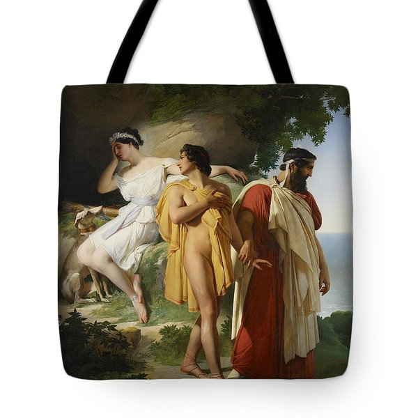 Telemachus And Eucharis Tote Bag by Raymond Quinsac Monvoisin