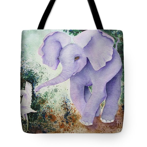 Tote Bag featuring the painting Tembo Tag by Diane DeSavoy