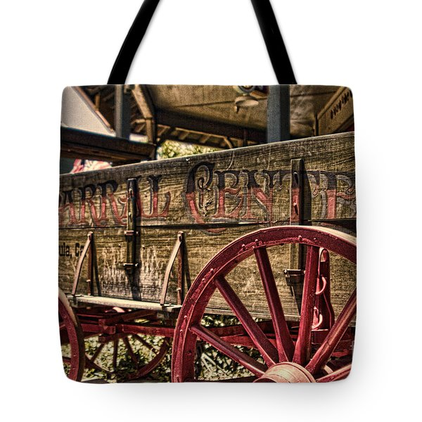 Tote Bag featuring the photograph Temecula Wagon by Photography by Laura Lee
