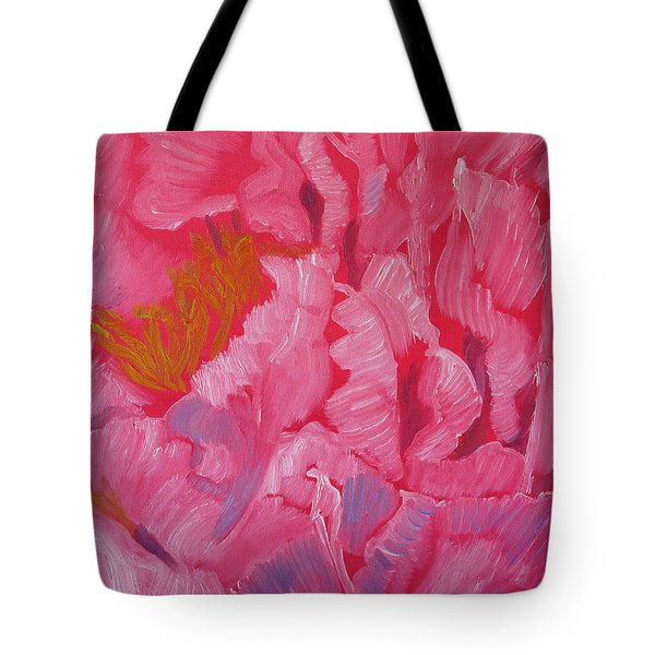 Frills Of Petals Tote Bag by Meryl Goudey