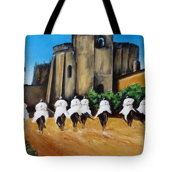 Templar Knights And The Convent Of Christ Tote Bag by Kaye Miller-Dewing