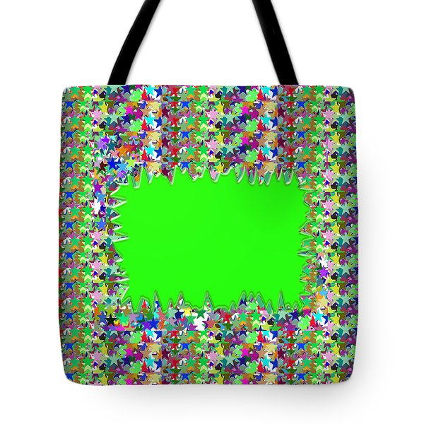 Tote Bag featuring the photograph Template Art Star Sparkle And Empty Box To Add Your Image Or Text by Navin Joshi