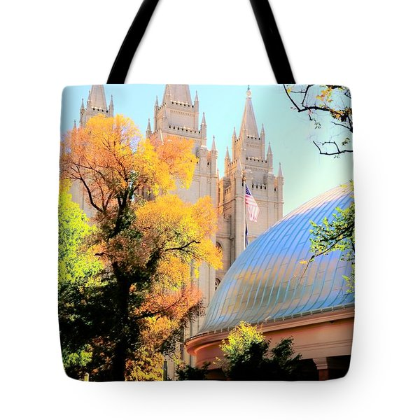 Temple And Tabernacle Tote Bag by Kathleen Struckle