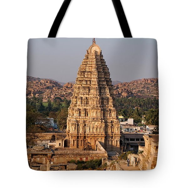 Temple At Hampi Tote Bag