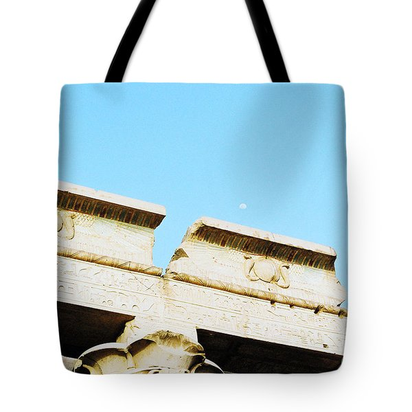 Tote Bag featuring the photograph Temple At Luxor by Cassandra Buckley