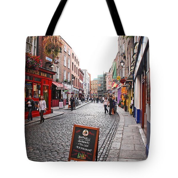 Tote Bag featuring the photograph Temple Bar by Mary Carol Story