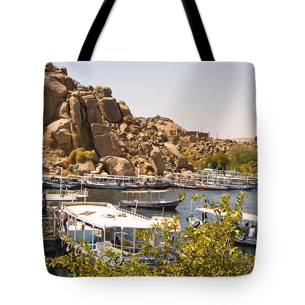 Temple Boat Dock Tote Bag by James Gay