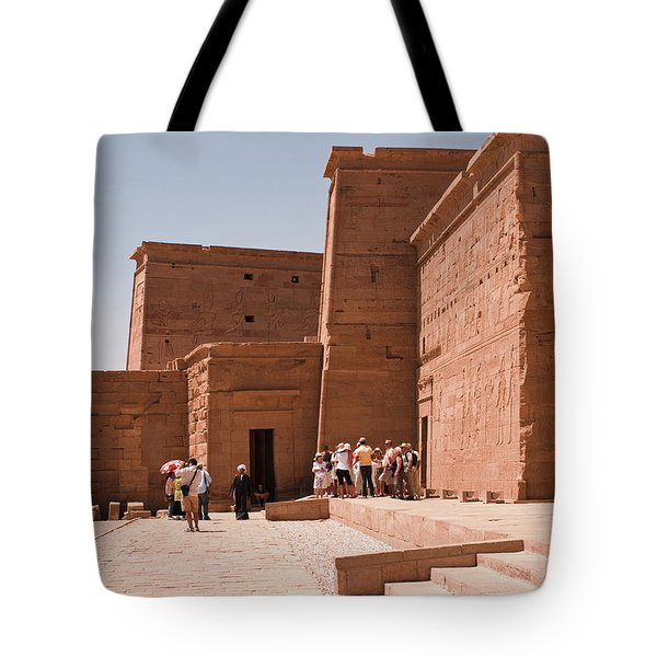 Temple Building Tote Bag