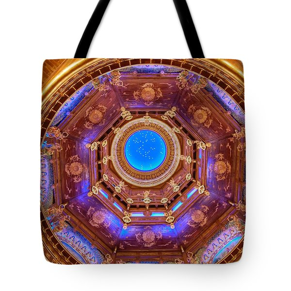 Temple Ceiling Tote Bag
