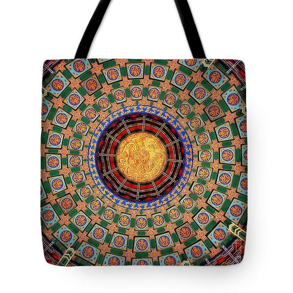 Temple Ceiling Tote Bag by Lisa L Silva