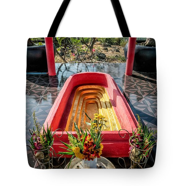 Temple Feature  Tote Bag by Adrian Evans
