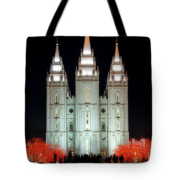 Temple Lights Tote Bag