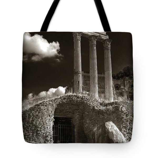 Temple Of Castor And Polux Tote Bag