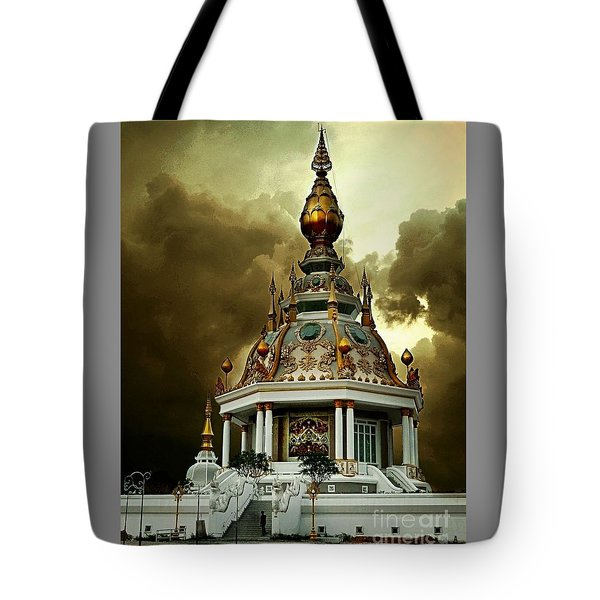Temple Of Clouds  Tote Bag