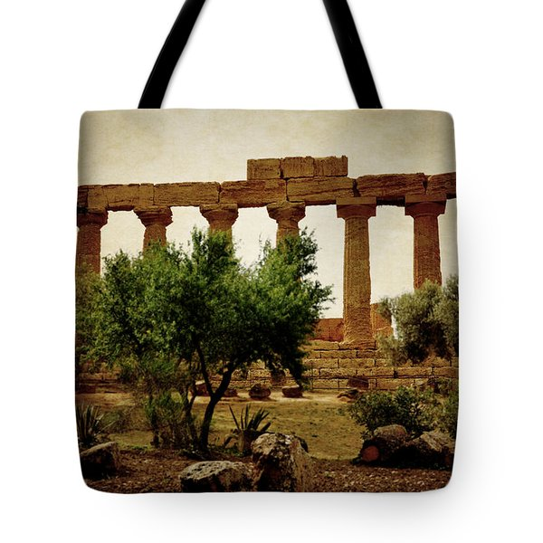 Temple Of Juno Lacinia In Agrigento Tote Bag
