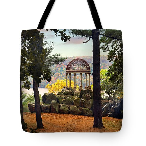 Temple Of Love In Autumn Tote Bag