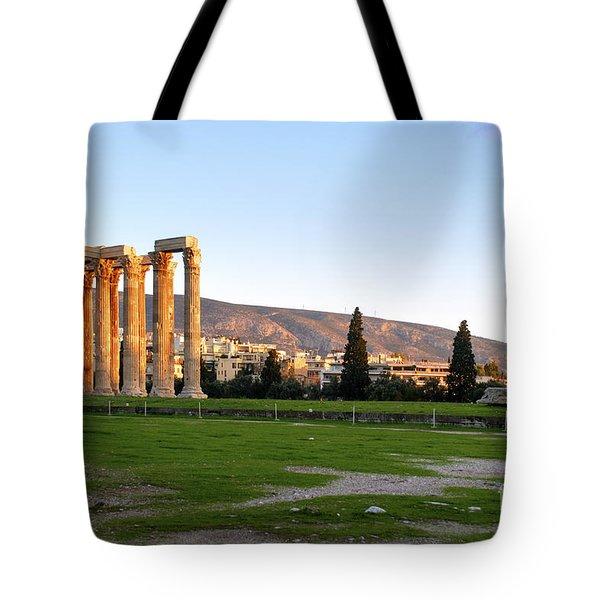 Temple Of Olympian Zeus. Athens Tote Bag