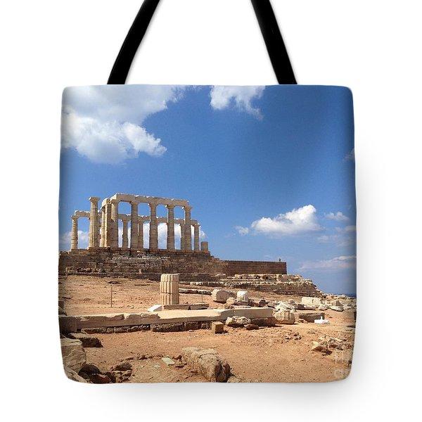 Temple Of Poseidon Tote Bag
