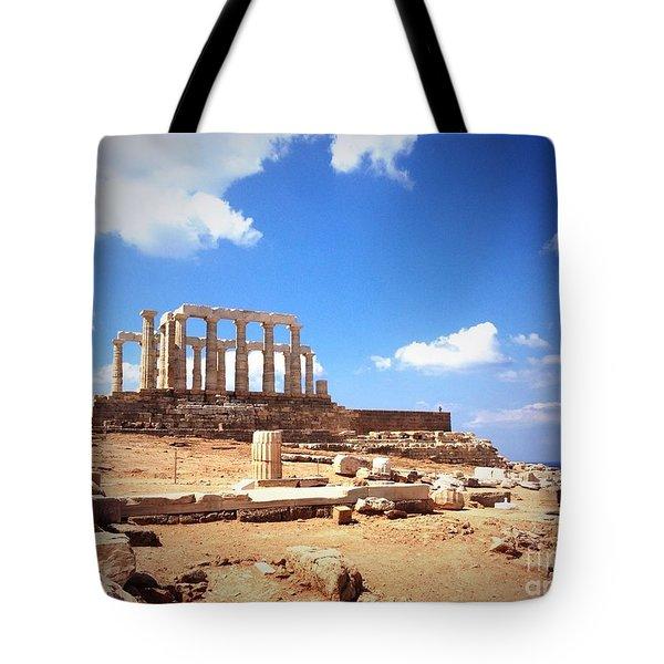 Temple Of Poseidon Vignette Tote Bag